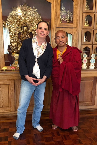Dan Globus and Khenpo Tenkyong from the KTD Monastery